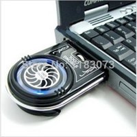 Wholesale New Mini Vacuum LED USB Air Extracting Cooling Fan Cooler for Notebook Laptop PC