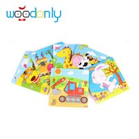 Wholesale Wooden Animal Puzzle piece Toy Baby Children Educational Birthday Gift kids Puzzles toys for children educational toys oyuncak