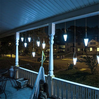 battery chandelier - Solar LED Hanging Lights Color Changing Balcony Garden Outdoor Chandelier Decorative Lights NI MH Battery Lamp for Christmas