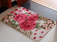 Wholesale Tasteless non slip suction machine washable mats bedroom living room door mats Ottomans