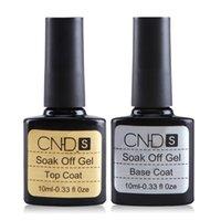 Wholesale CNDS Brand ml gel nail polish soak off nail glue base coat top coat Set for nails with UV lamp nail gel