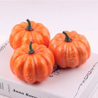 foam pumpkins - Lifelike Artificial Foam Orange Mini Halloween Pumpkin Party Festival Home Decoration Photography Props Kids Gifts WA1261