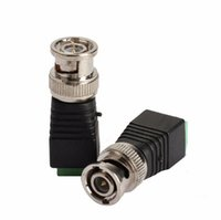 Wholesale Video Surveillance BNC Connector Mini Coax CAT5 To Camera CCTV BNC Male Video Balun Connector Adapter