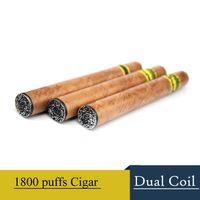 al por mayor cigar cigarette-Cigarro desechable kit de cigarrillo electrónico de 1800 Puffs E Cig E cigarros de vapor de gran alcance vaporizador mejor que E Shisha desechable