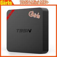 Wholesale High Quality OTT TV BOX T95N Mini MX google internet GB DDR GB FLASH Quad Core android tv box Support Wifi VS Mini M8S MXQ MXQ Pro