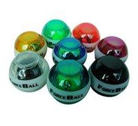 Wholesale E0687 NEW color optional Gyroscope LED Wrist Strengthener Ball arm Grip Ball Power with LED Light