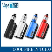 Cheap Innokin Cool Fire 4 TC 100W Cool fire IV TC100W Aethon Chipset ISUB V start kit 3ml Pyrex Glass Tank