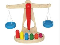 balance beam scale - 2016 New Balance Scale Wooden Weights Children Toy Balance Beam Game for Parent Child Game Educational Intelligence toys