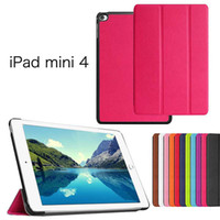 """Cheap cheap whole sale casual smart PU case for ipad mini 4 cover for ipad mini tablet stand with wake up free shipping 7.9"""""""