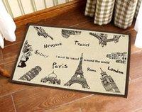 ben x - World Building French Paris Eiffel New York London Big Ben Floor Mat Rug Door Bath Mat Soft Absorbent x CM