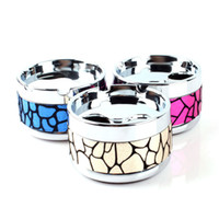 Wholesale New Home Used Colorful Pattern Ashtray Lid Rotation Fully Enclosed Fashion