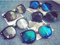 aviator sunglasses children - HOT Kids Sunglass Children Beach Supplies UV protective eyewear baby sunglasses for boys Girls sunshades kids aviator ZA0077