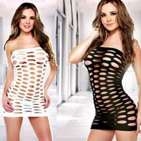 Wholesale Sexy Lingerie Fishnet Dress Sex Products Intimate Hot Appeal Sleepwear Costumes Sexy Underwear Strapless