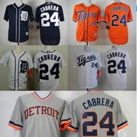 baseball jersey style - New Style Mens Detroit Tigers Jerseys Miguel Cabrera Throwback Baseball Jersey Embroidery Logos Accept Mixed Orders