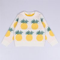 Wholesale 2016 spring autumn baby INS sweater children Long Seleeve knitting pullover fashion kids pineapple printing sweaters