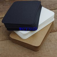 Wholesale Cute Black White Kraft Paper Memo Pad Note Pads Card Creative Stationery school supplies gift