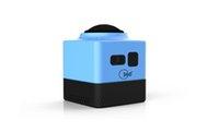 Cámara al por menor 2016 del deporte Nueva cámara HD720P de la acción del deporte del CUBO 360 360 grados VR panorámico Construir-en la mini vida ultra del recorrido de WiFi mini DV