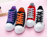 basic canvas shoes - The Explosion Of Summer Color Thick Soled Canvas Shoes Female Students Higher All match Basic Leisure Muffin Shoes Hot Sale