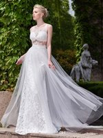 accord images - The new marriage gauze Open Back run Neck Appliques A Line Court Train Wedding Dress we can make according to the size