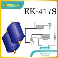 air water chiller - EK417S solid core filter driers are installed air cooled water chillers for laser equipments