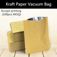 barrier bags - 200pcs Small Kraft Paper Heat Sealed Packaging Bag Thicken Barrier Food Vacuum Bag Custom Logo Bag
