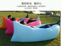 Wholesale Fast Inflatable Lamzac Hangout Air Sleep Hiking outdoor pad Camping Bags Bed KAISR Beach Sofa Lounge Only Ten Seconds Inflate With Pocket