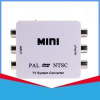 Wholesale Mini RCA Video PAL to NTSC Bi directional MINI TV Video System Converter PAL TO NTSC or NTSC TO PAL converter