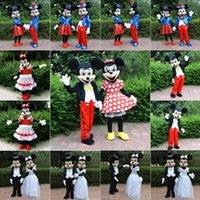 mascota fursuit CALIENTE para la venta de Mickey y Minnie Mouse personaje de dibujos animados de la mascota del traje de Halloween disfraces de animales libres del envío