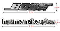 abs stereos - Car stereo Sticker BOSE Harman kardon Silver ABS Chorm Sticker car decoration internal