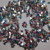 Wholesale 1000pcs x6mm teardrop crystal Rhinestone flatback Gem decor Crafts scrapbook HS1000