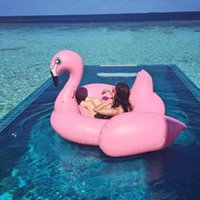 Wholesale Inflatable Flamingo Floating Bed Drainage Environmental Protection Material Lying Drainage Bed Water Sports