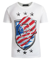 Wholesale European Fashion Philipp Plein NEW PP T Shirt Cotton mens clothing demon skull Tees male short sleeve T shirts Polo Tee Tops