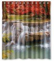autumn shower curtains - Waterfalls Seasons Autumn Nature Bathroom products Fabric Bath Shower Curtain x180cm Home Decor