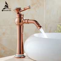 al mount - fashion luxury noble and elegant rose gold faucet single hole hot and cold faucet AL BE