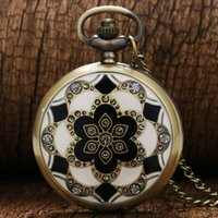 antique jade necklace - White Jade Crystal Quartz Big Pocket Watch Necklace Pendant Chain Mens Gift P51