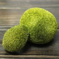 artificial grass decoration crafts - Green Artificial Moss Stones Grass Bryophytes Plants Pot Home Garden Bonsai Decoration Novelty Decorative Crafts Size each