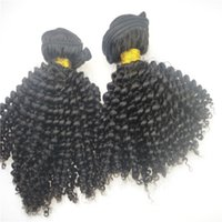 Wholesale 7A Unprocessed kinky curl hair weft hair extensions peruvian Indian Malaysian Hair Extensions Can Dyeable