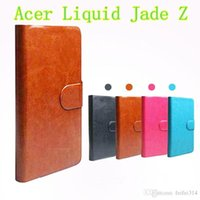 acer pen - Hot Sell Original PU Leather Flip Cover Case For Acer Liquid Jade Z Cell Phones Holster Touch Pen Gift