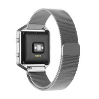 band loops - Fitbit Blaze Accessory Band Large Milanese loop stainless steel Bracelet Strap With Magnet lock for Fitbit Blaze Smart Fitness Watch