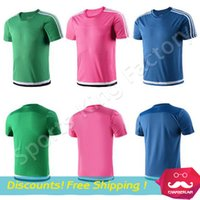 Wholesale Football Club blank brand jersey Football training Wear soccer club sports wear special custom printed font pink green blue