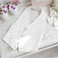 Wholesale Han Edition Spring Children Dress Suit Baby Vest Men And Women s Children Wear Dark Pattern Ma Jia Page Boy Suits Boys Wedding Suits