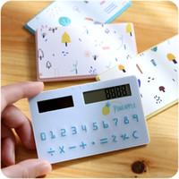 Wholesale Creative student minor solar card calculator super slim Mini student portable calculator