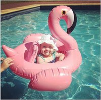 kid swimming pool - Flamingo Inflatable Swimming Ring Giant Swan Float Swan Flamingo Floats Ins Floating Rings Swiming Laps Raft Kids Swimming Pool Toys B374