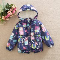 baby fleece jacket pattern - Unisex kids Cartoons graffiti printing jacket new autumn and winter children bird pattern thick clothes baby Long sleeve coat for T