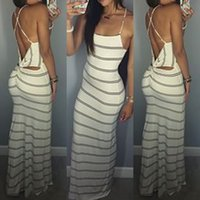 strapless maxi dress - Summer Dress Maxi Dresses Sexy Backless Stripes Strapless Women Dress Casual Dresses Plus Size Maxi Sun Dresses