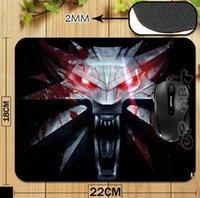 al por mayor print mouse pad-El logotipo del juego de la caza salvaje de Witcher 3 Cojín de ratón profesional de la impresión para el ordenador portátil de la computadora Cojín de ratón de la caída libre