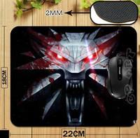 El juego Witcher 3 Wild Hunt impresión de la insignia profesional alfombrilla de ratón para el ordenador portátil del ordenador mousepad de la gota libre
