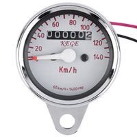 Wholesale 12V Easy to install Universal Motorcycle LED Backlight Odometer Tachometer Speedometer Speedo meter Tacho km h RPM
