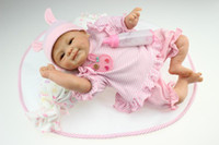 Cheap Reborn baby doll about 45 cm baby reborn doll kits vinyl silicone reborn baby dolls interactive baby dolls for girls