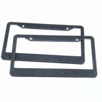 Wholesale 2016 Hot Solid Black crystal license plate frame bling car license plate rhinestone license plate holder